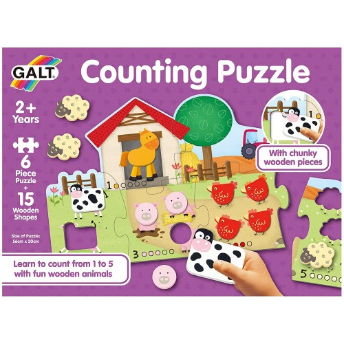 Galt Toys, Counting Puzzle, Jigsaw Puzzle for Kids