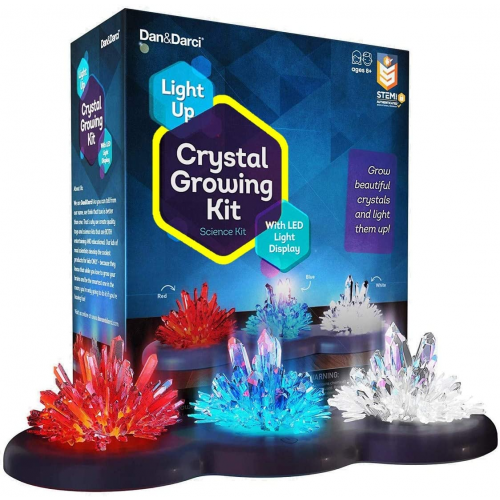 Crystal Growing Kit for Kids + LIGHT-UP Stand - Science Experiments for Kids