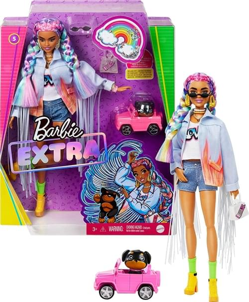 Barbie Xtra Rainbow Braids Doll 4