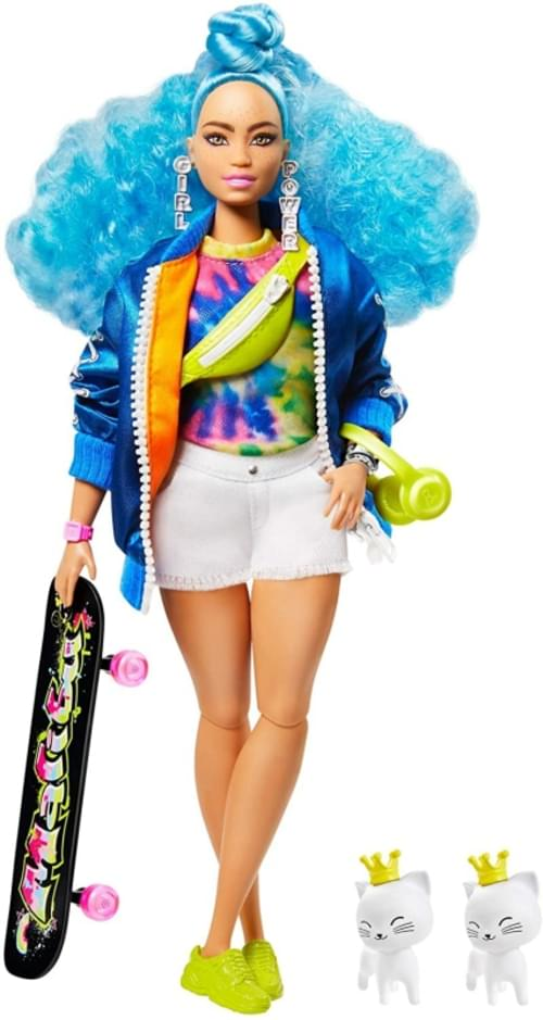 Barbie Xtra Blue Curly  Hair Doll 5