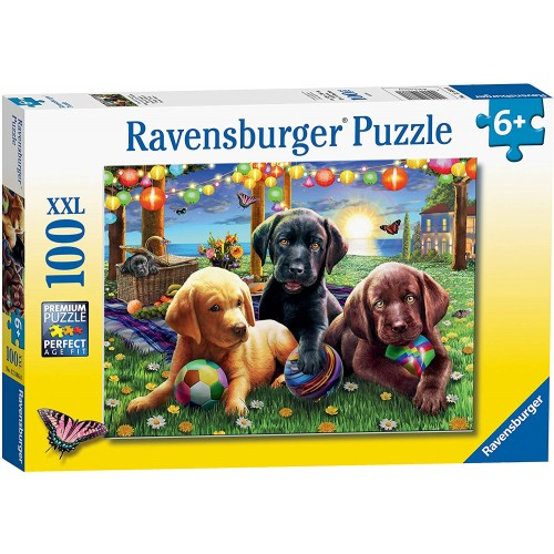 Ravensburger Puppy Picnic 100 Jigsaw Puzzle with Extra Large Pieces