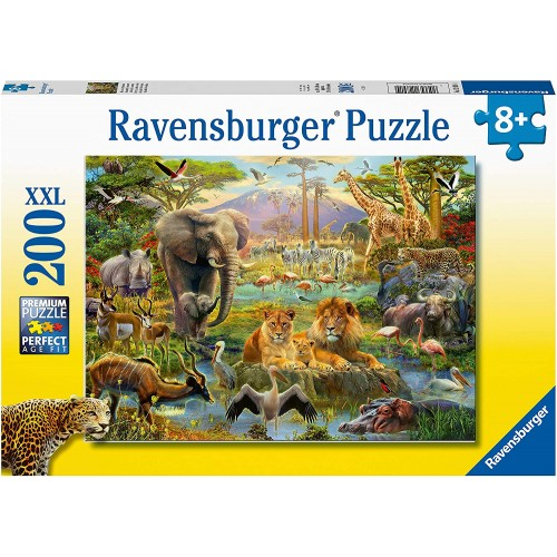Ravensburger Animals of The Savanna 200 Jigsaw Puzzle with Extra Large Pieces