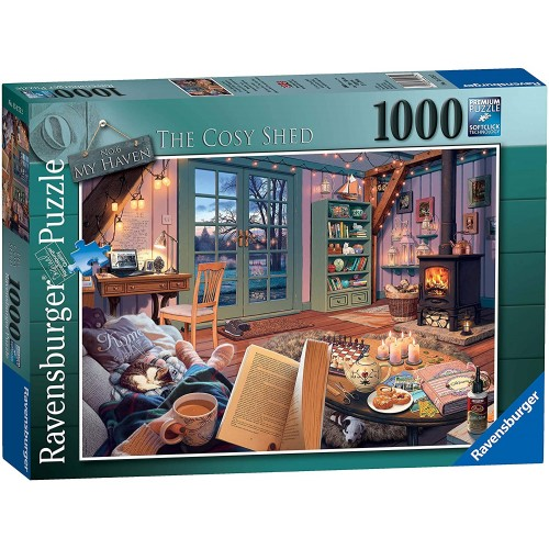My Haven No 6. The Cosy Shed 1000pc Jigsaw Puzzle