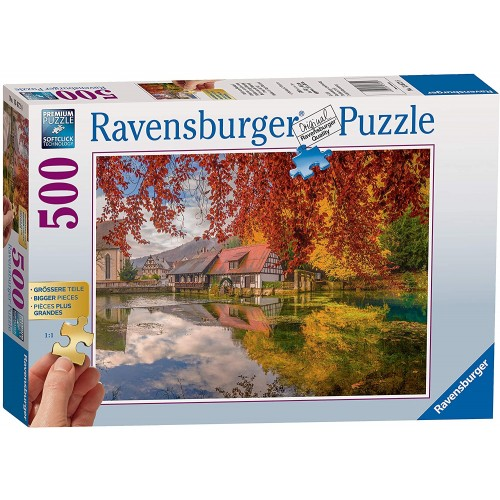 Ravensburger Peaceful Mill 500 Piece Jigsaw Puzzle  with extra large pieces