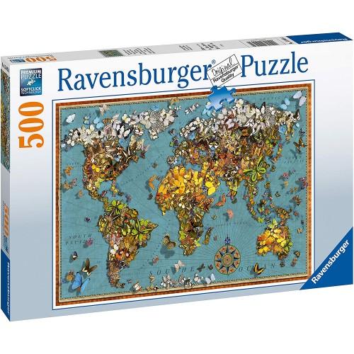 Ravensburger World of Butterflies 500 Piece Jigsaw Puzzle