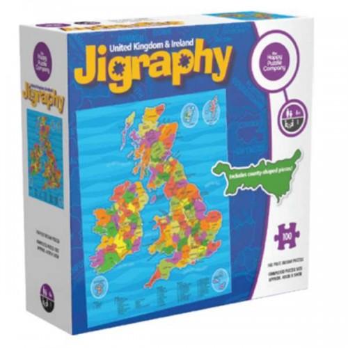 Jigraphy United Kingdom & Ireland Happy Puzzle