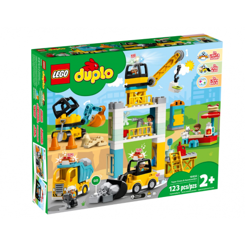 LEGO DUPLO Tower Crane & Construction Vehicle