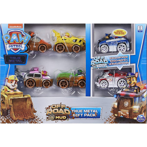 PAW Patrol - True Metal Off-Road Gift Pack of 6 Collectible Die-Cast Vehicles