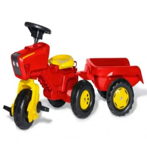 Rolly Red Tractor and Trailer with Sound Steering