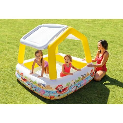 Pool Paddling Intex Sun Shade Pool Inflatable Kids Children Garden Splash