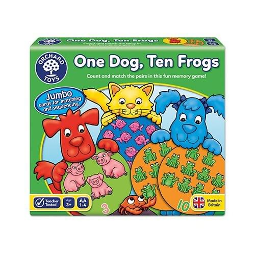 ONE DOG TEN FROGS