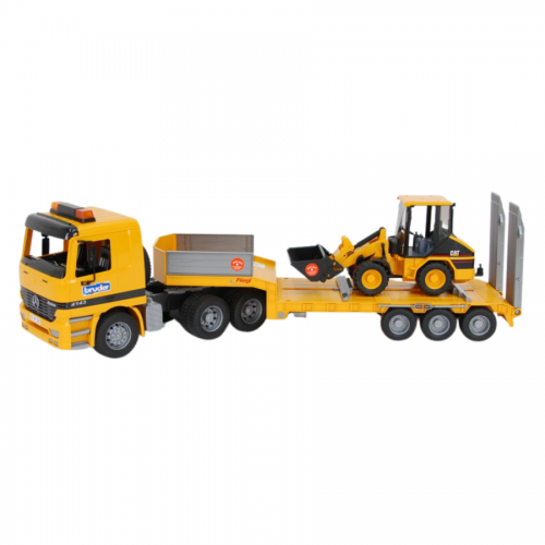 MB Actros Low Loader Truck with Cat Wheel Loader