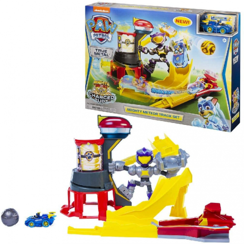 PAW PATROL, True Metal Mighty Meteor Die-Cast Track Set with Exclusive Chase Vehicle