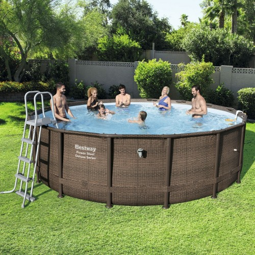 16ft Power Steel Deluxe Series Round Pool Set