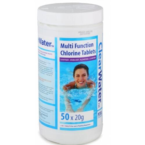 MULTIFUNCTION TABLETS (1KG) CHLORINE CH0019 POOL CLEAR WATER