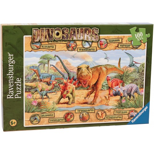 Dinosaurs 100 Jigsaw Puzzle with Extra Large Pieces for Kids