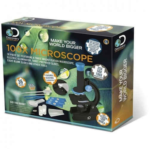 Discovery Adventure 100x Microscope (36pc)