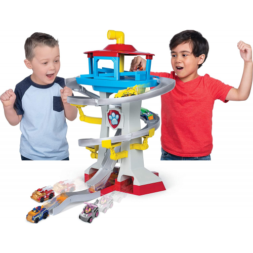 Paw Patrol True Metal Adventure Bay Rescue Way Playset with 2 Exclusive Vehicles