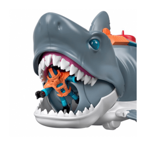 Imaginext Mega Bite Shark With Swimming Motion and Scuba Diver Figure