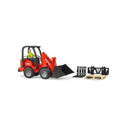 Bruder Compact Loader Schaeffer 2034 1:16 02191 with figures and accesories