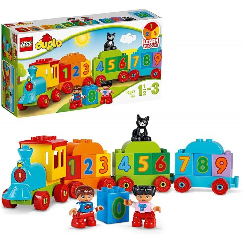 LEGO 10847 DUPLO Number Train Toy, Award-Winning Building Set with Large Number Bricks, Preschool Education Toys for Toddlers