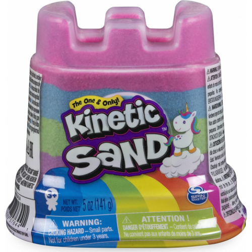 Kinetic Sand Rainbow Castle Container, Mixed Colours