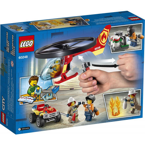 LEGO City Fire Helicopter Response 60248 Firefighter Toy, Fun Building Set for Kids, New 2020