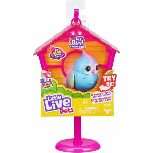 Little Live Pets Lil' Bird & Bird House - Rainbow Tweets - Interactive Fun