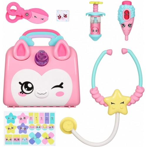 Kindi Kids Hospital Corner Unicorn Doctors Bag Play Set - Includes 4 Shopkins Accessories