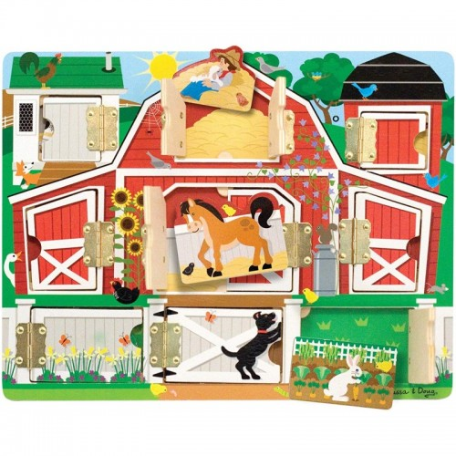 Wooden Toys Magnetic Hide And Seek Farm