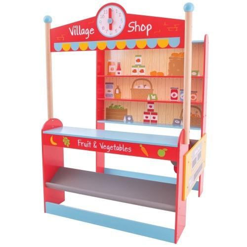 Bigjigs Toys Village Shop Playset