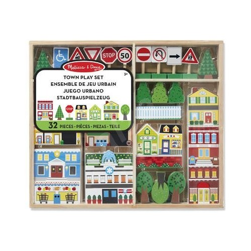 Wooden Town Play Set