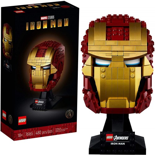 LEGO Marvel Iron Man Helmet Display Building Set, Collectible Gift Model for Adults