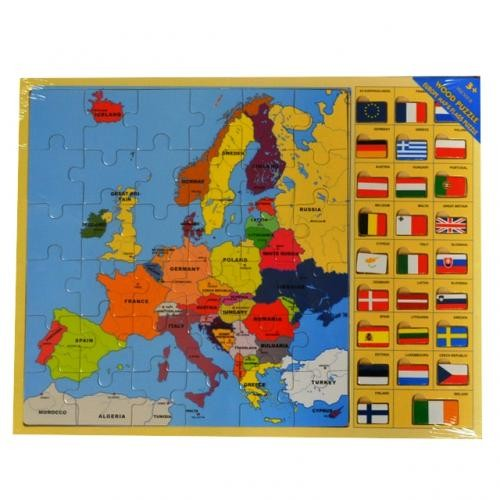 EUROPE MAP & FLAGS PUZZLE
