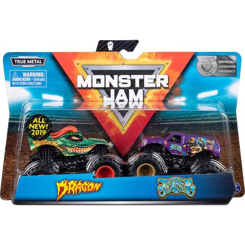 Monster Jam - Authentic 2 Pack, 1:64 Scale Die-Cast Monster Trucks