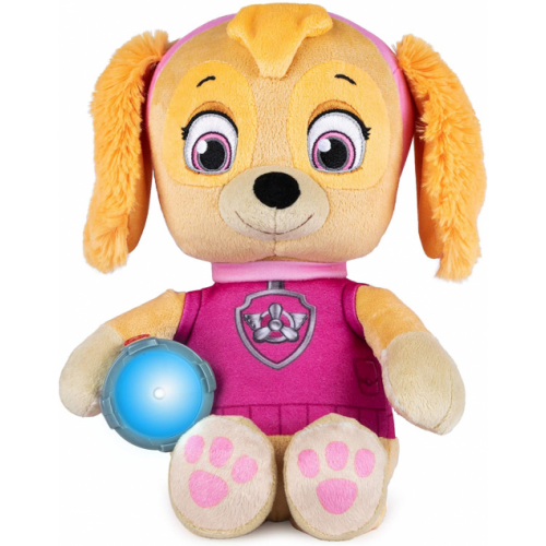 Paw Patrol Snuggle Up Skye Plush with Torch and Sounds,
