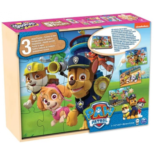 Paw Patrol  3 Wooden Puzzles  The Pat Patrol