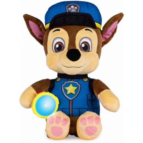 Paw Patrol Snuggle Up Chase Plush with Torch and Sounds,