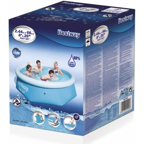 Bestway - Fast Set Pool,  244cm ( 8 Foot x 26 Inches)