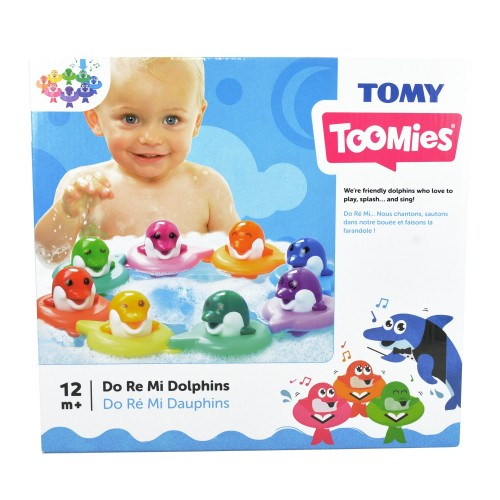 Toomies TOMY Do Re Mi Dolphins Baby Bath Toy | Educational and Musical Toy For Toddlers | Kids Bath Toys Suitable For Boys & Girls 1, 2 & 3 Years