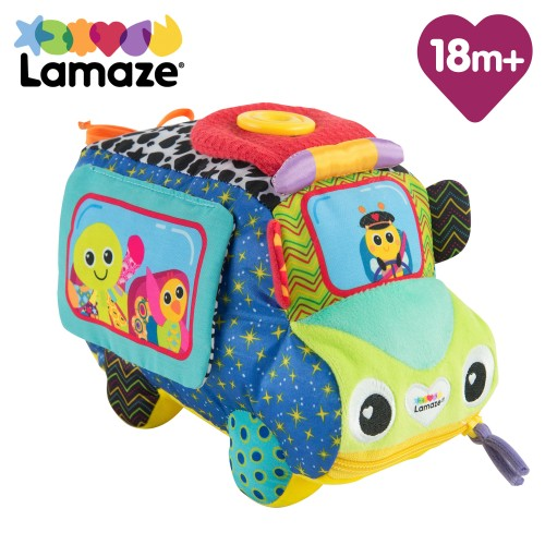 LAMAZE Freddie's Activity Bus Baby Toy, Plush Sensory Toy with Flaps & Discovery Mirror for Sensory Play | New Baby Gifts for Toddlers Boys & Girls From 18 Months, 2, 3+ Year Olds