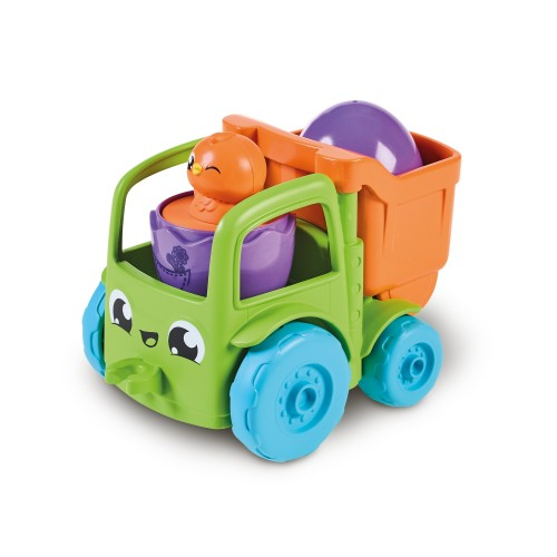 Toomies E73219C Tomy Hide and Squeak 2 in 1 Transforming Tractor, Push-Along Egg Character, Educational Shape Sorter with Colours and Sound, Toy for Baby Boys & Girls Aged 1, 2 & 3 Years Old