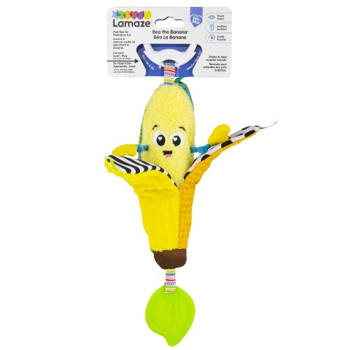 LAMAZE Bea the Banana, Clip on Pram and Pushchair Newborn Baby Toy, Sensory Toy for Babies with Colours and Sounds, Development Toy for Boys and Girls Aged 0 to 24 Months