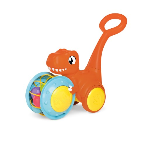 Tomy Pic & Push T. Rex, Children, Jurassic World, Educational Push & Go Vehicle, Colourful Dinosaur Toy for Baby Boys & Girls Aged 12 Months +