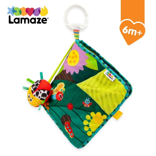TOMY LAMAZE Bitty Bug Book, Clip on Pram and Pushchair Newborn, Sensory Babies with Colours and Sounds, Development Toy for Boys and Girls Aged 0 Months +