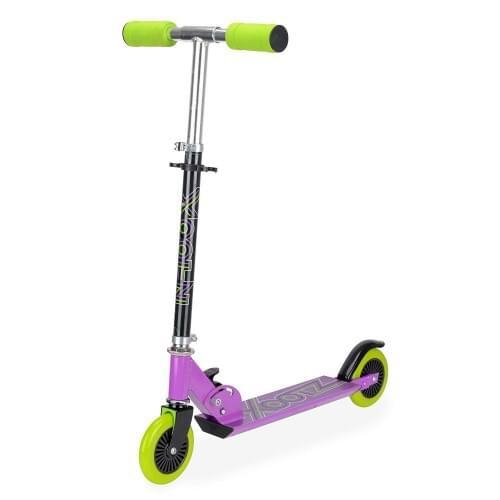 Xootz Kids Folding Kick Scooter - Purple With Adjustable Handlebars