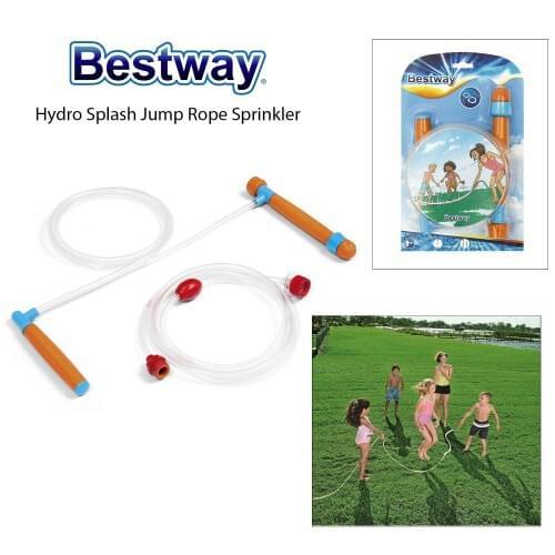 Bestway Kids Hydro Splash Jump Skipping Rope With Built In Sprinkler Garden Game pool