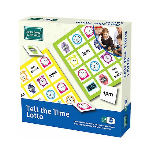 Green Board Games Tell The Time LOTTO