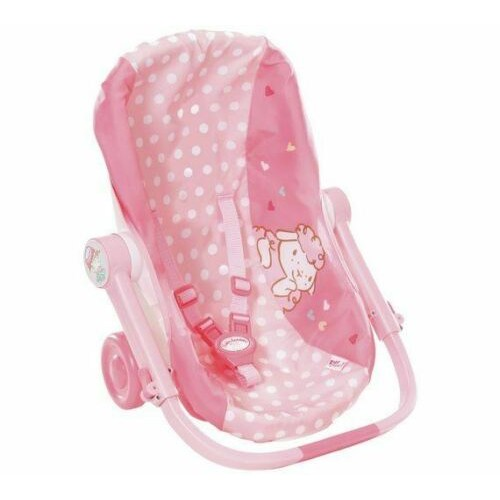 Baby Annabell Pink Travel Seat for Dolls With Wheels
