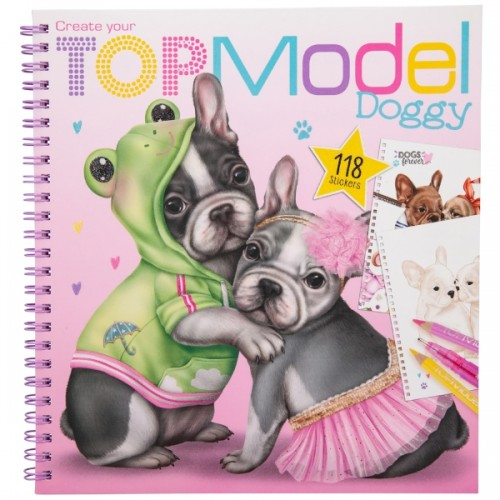 TOP MODEL DOGGY COLORING BOOK